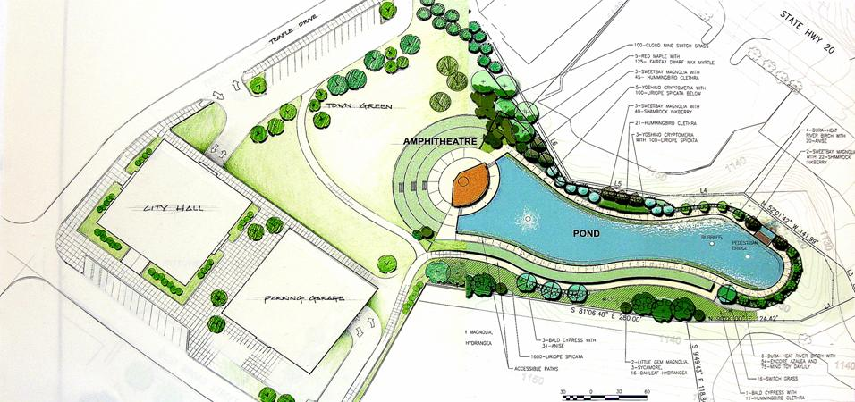 Downtown development authority sugar hill city hall for Design of maturation pond